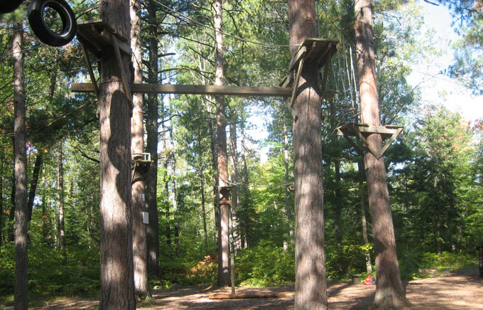 The Forest Products Laboratory (FPL) was asked to assemble a team of experts in decay detection, which included R. Bruce Allison, to conduct a thorough examination of the 16 red pines that serve as the frame for the ropes course.